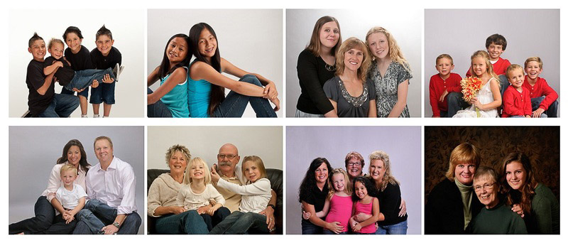 family portrait colors example
