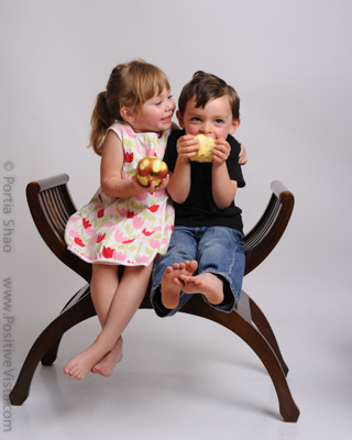 Cutest kids eating apples